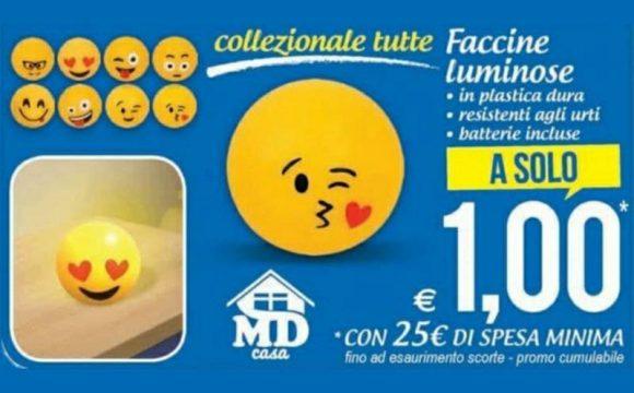 Faccine Luminose da MD, a solo 1€ offerta valida fino al 26 settembre 2021