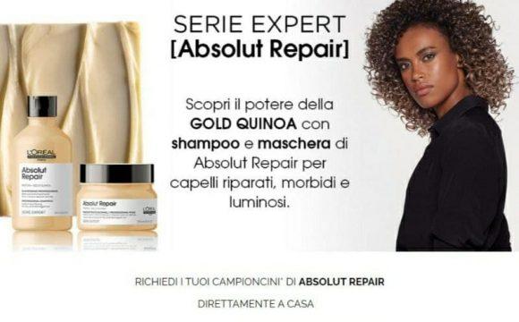 L'Oreal Absolut Repair shampoo e maschera fino ad esaurimento scorte