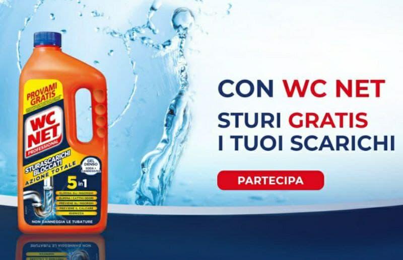 Partecipa al Provami Gratis WC Net Sturascarichi Azione Totale richiedi il rimborso del 100%