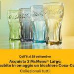 Ricevi in omaggio i Bicchieri Coca-Cola McDonald's edizione 2021 operazione a premi imperdibile