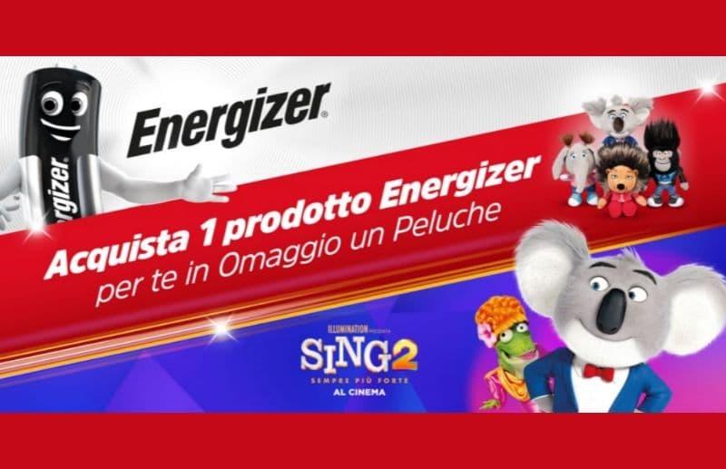 Ecco un altra iniziativa Sing 2 sempre più forte con premio certo con Energizer infatti ottieni un Peluche Sing 2 Ecco come averlo