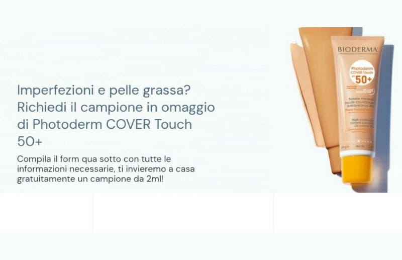 Richiedi gratis il campione omaggio Bioderma Photoderm COVER Touch, affrettati fino ad esaurimento scorte